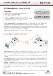 KVM DisplayPort fiber optical extenders DP-OPT-TX150 ... - VIDELCO