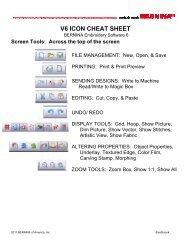V6 ICON CHEAT SHEET Screen Tools
