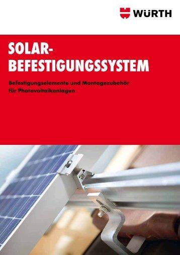 SOLAR- BEFESTIGUNGSSYSTEM - Adolf Würth GmbH & Co. KG