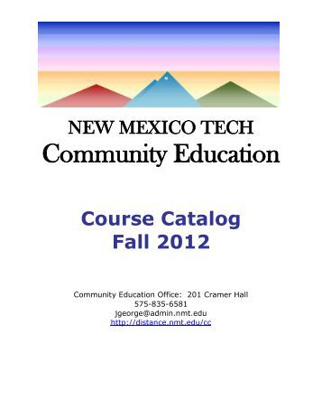 Image Result For Nmt Course Catalog