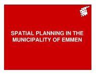 Spatial Planning in Emmen NL - MP4-Interreg