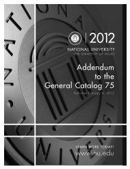 Catalog 75 Addendum B - National University
