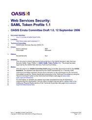 Web Services Security SAML Token Profile 1.1 Errata - OASIS Open ...