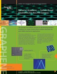 Epitaxial Graphene — Carbon-Based Electronics for the 21st Century