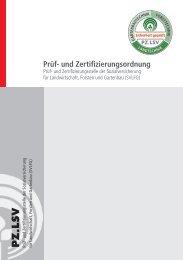 Prüf- und Zertifizierungsordnung - SVLFG