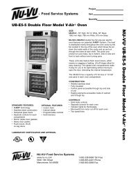NU-VU UB-E5-5 Double Floor Model V -Air Oven - MyChefStore.com