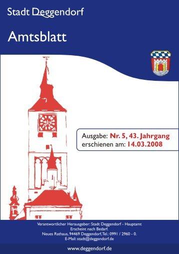 Haushaltssatzung - Deggendorf
