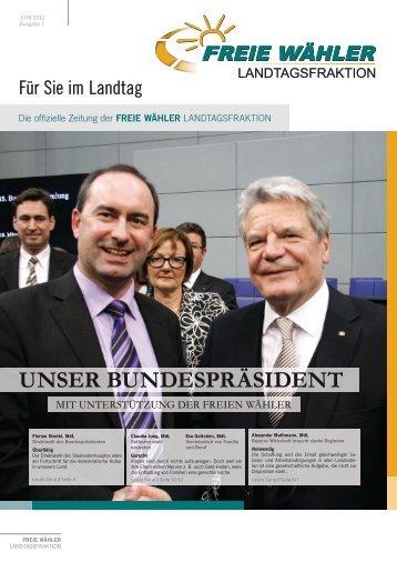 UNSER BUNDESPRÄSIDENT - Freie Wähler Bayern