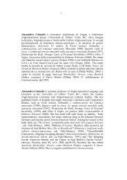 cv sito docente - Università degli Studi di Urbino