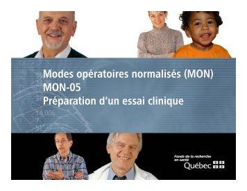 Modes opératoires normalisés - MON-05