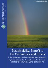 Sustainability, Benefit to the Community and Ethics