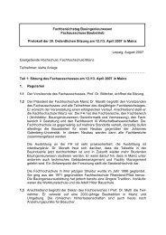 Fachhochschule Mainz Teilnehmer: siehe Anlage Teil 1: Sitzung ...