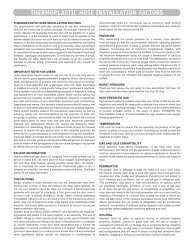 THERMOPLASTIC HOSE INSTALLATION FACTORS - Yellow Jacket