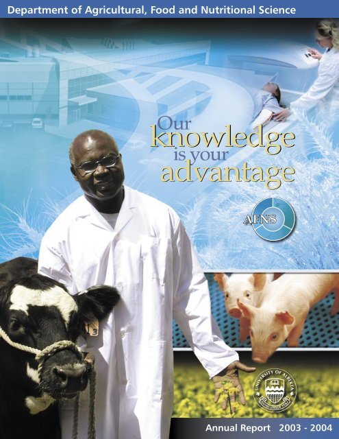 Annual Report 2003 - Agricultural, Food & Nutritional Science