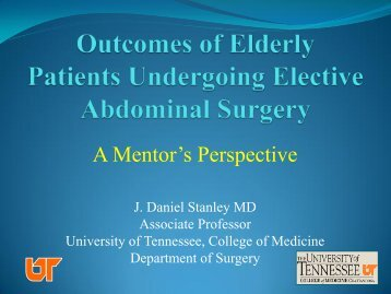 Outcomes of Elderly Patients Undergoing Elective Abdominal Surgery
