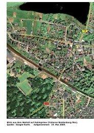 Quelle: Google-Earth. Aufgenommen: 19. Mai 2009. - Dobiegniew ...
