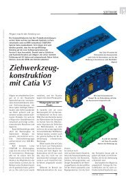 Ziehwerkzeugkonstruktion mit Catia V5 - K Magazin