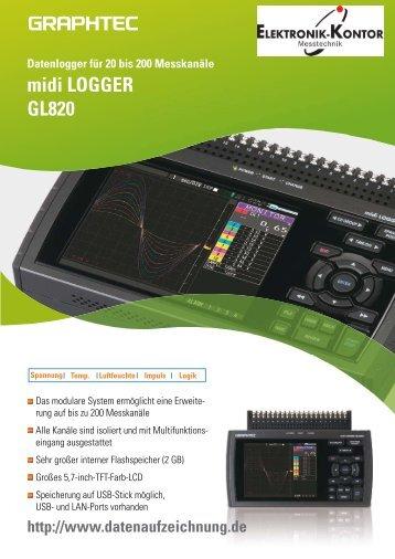 Datenblatt Datenlogger GL820