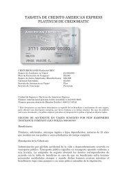 TARJETA DE CREDITO AMERICAN EXPRESS ... - Credomatic