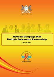 O Icheke National Campaign Plan - CONCURRENT SEXUAL ...