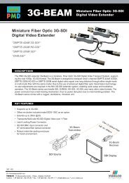 Miniature Fiber Optic 3G-SDI Digital Video Extender - VIDELCO