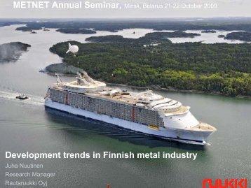 Development trends in Finnish metal industry