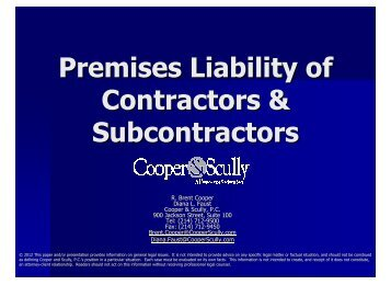premises liability s.. - Cooper & Scully, PC