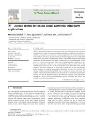 Access control for online social networks third party applications