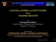LESSONS LEARNED and RECOVERING from TSUNAMI DISASTER ...