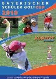 Konzept Booklet - Bayerische Schüler Golfcup