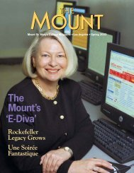 The Mount's 'E-Diva' - Mount St. Mary's College
