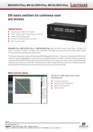 DVI matrix switchers for conference room and avionics - VIDELCO