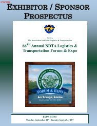 ANNUAL FORUM & EXPOSITION - NDTA