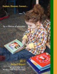2012 Annual Report - Providence Public Library