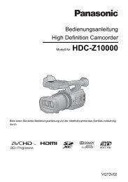 Bedienungsanleitung High Definition Camcorder - Videocation