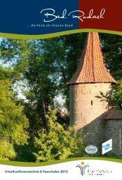 Unterkunftsverzeichnis & Pauschalen 2012 - therme Natur Bad ...