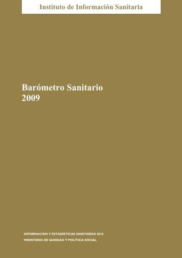 Barómetro Sanitario 2009 - Ministerio de Sanidad y Política Social