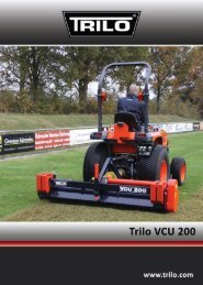Trilo VCU200 verticuteerder - Vanmac