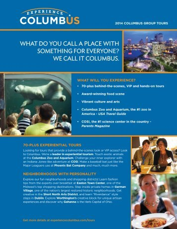 Experience Columbus Profile - Ohio Has It!