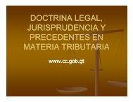 doctrina legal, jurisprudencia y precedentes en materia tributaria