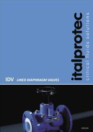 IDV Diaphragm valves data sheet - Italprotec