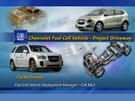 Chevrolet Fuel Cell Vehicle - SAE Mid-Michigan Home Page