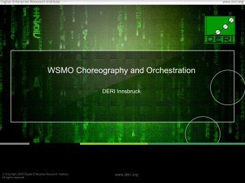 Current state of WSMO Choreography and Orchestration