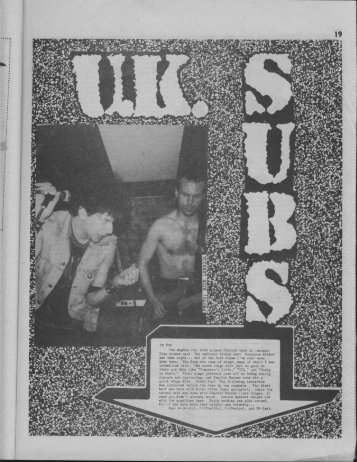 UK Subs - Trash Fever