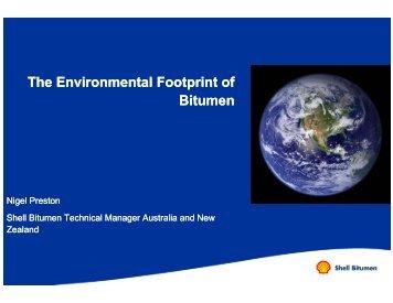 The Environmental Footprint of Bitumen