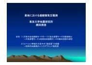 高地における連続微気圧観測 東京大学地震研究所 綿田辰吾