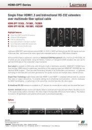 Single Fiber HDMI1.3 and bidirectional RS-232 ... - VIDELCO