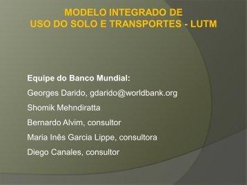modelo integrado de transporte e uso do solo - Clean Air Institute
