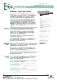 Network Video Recorder DATA SHEET - VIDELCO