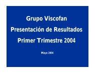 Presentación de resultados T1 - Viscofan
